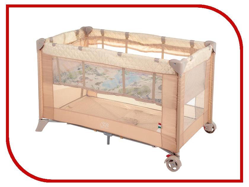 Манеж-кровать Sweet Baby Intelletto 5 в 1 Beige 389764 игровой манеж sweet baby carnevale colore quadro 389 766
