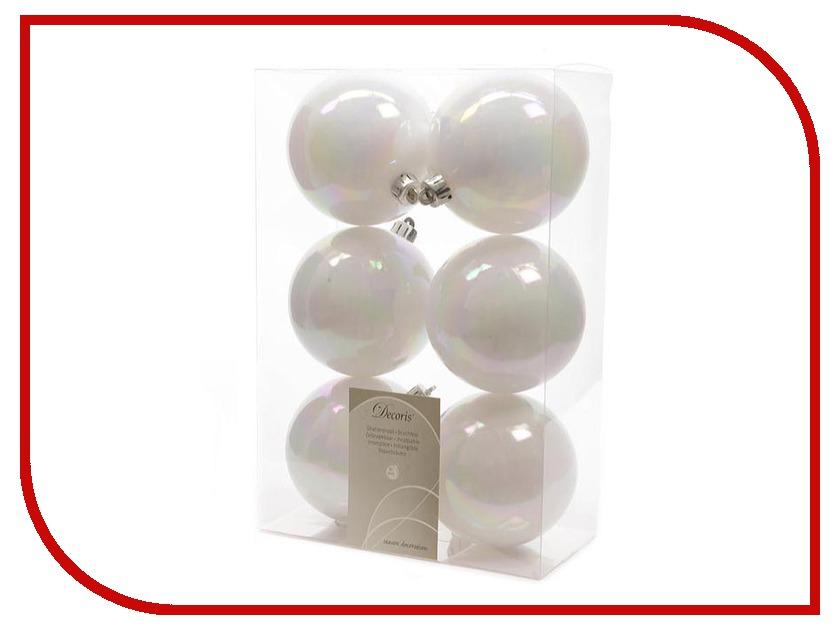 Украшение Kaemingk Набор шаров 6шт White 022064 набор бокалов crystalex ангела оптика отводка зол 6шт 400мл бренди стекло