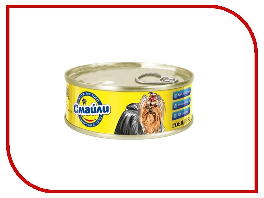 Корм Смайли Говядина в желе 100g для собак 81055