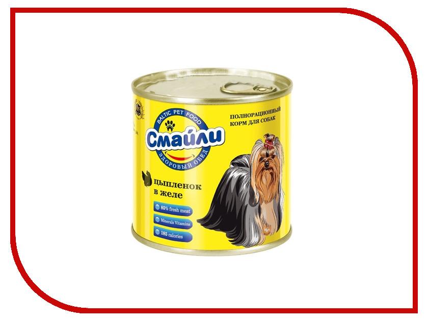 Корм Смайли Цыпленок в желе 750g для собак 81073