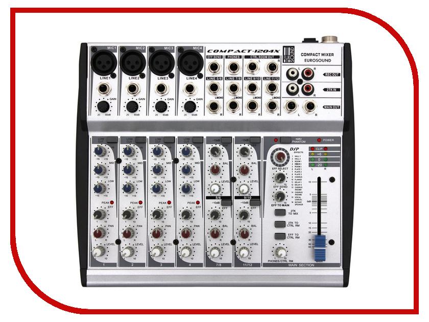 Пульт Eurosound Compact-1204X микшерный пульт с усилением eurosound force 820usb