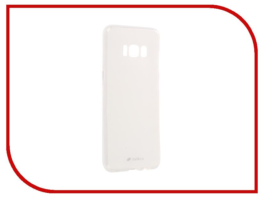 Аксессуар Чехол Samsung Galaxy S8 Melkco Silicone TPU Mat Transparent 15203 аксессуар чехол накладка micromax canvas viva a106 activ silicone black mat 46857