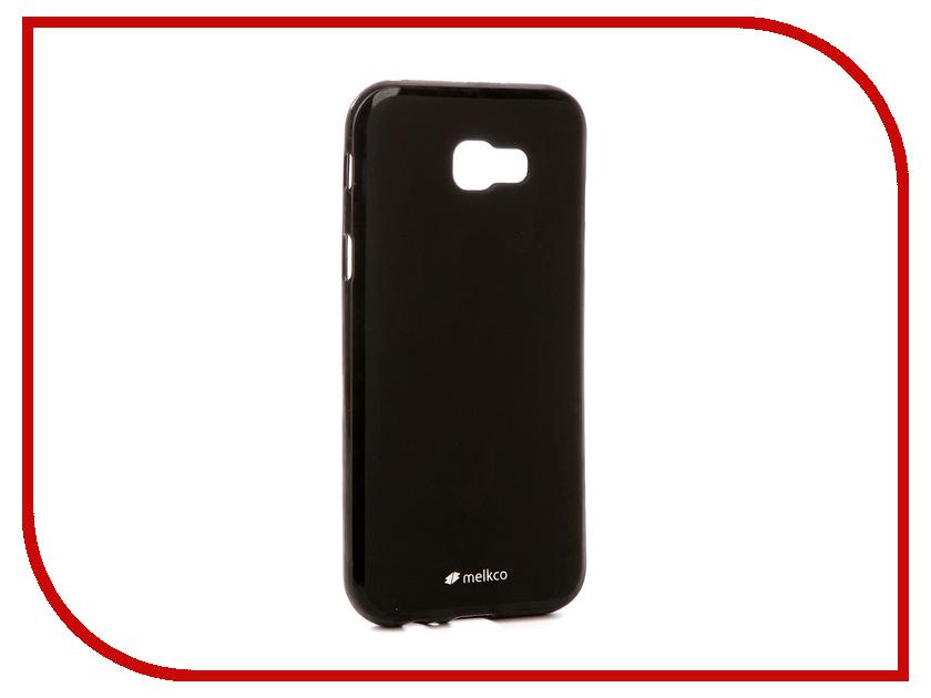 Аксессуар Чехол Samsung Galaxy A7 2017 Melkco Silicone TPU Mat Black 15341 купить чехол для samsung galaxy s3 melkco