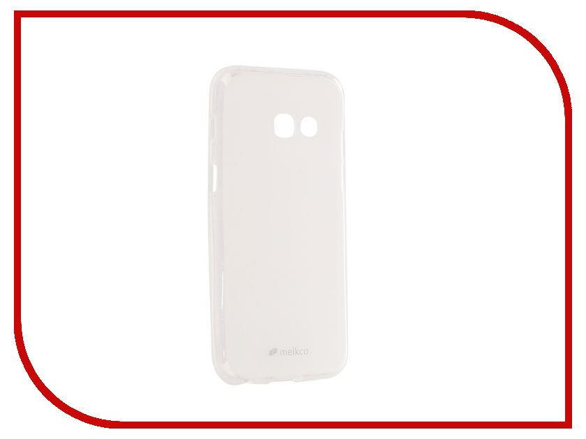 Аксессуар Чехол Samsung Galaxy A3 2017 Melkco Silicone TPU Mat Transparent 13591 аксессуар чехол накладка samsung galaxy a3 2017 skinbox silicone chrome border 4people silver t s sga32017 008