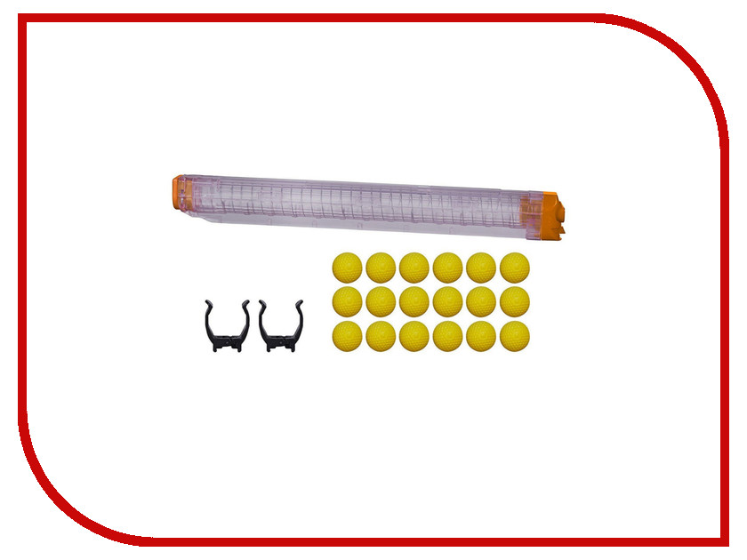 Игрушка Hasbro Nerf Райвал Запасной магазин+18 шариков B1594 nerf игрушка для собак nerf акула плавающая игрушка 18 см
