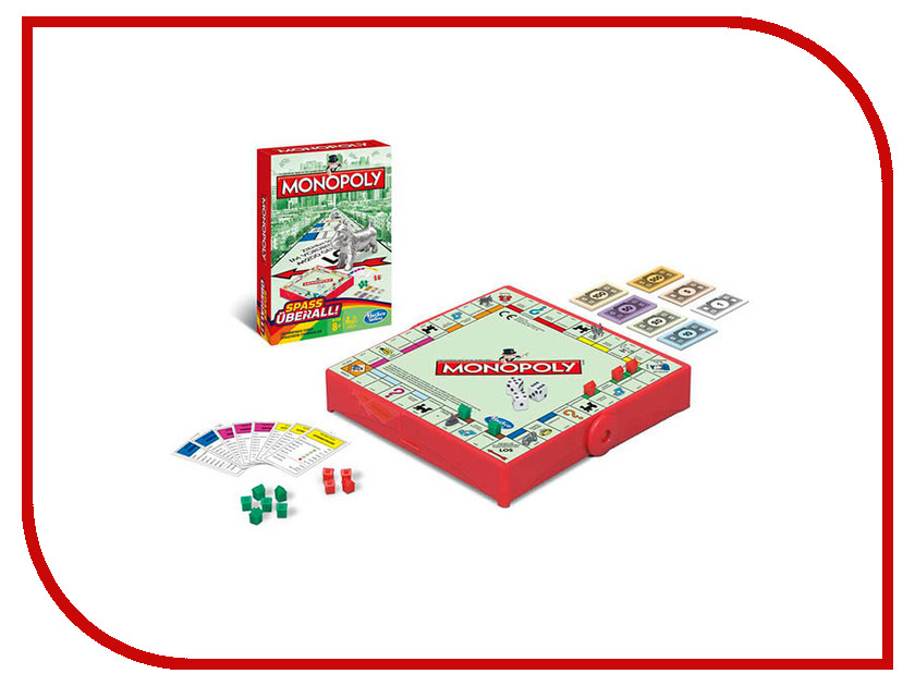 Игрушка Hasbro Games Монополия Дорожная B1002 монополия игра с банковскими карточками купить