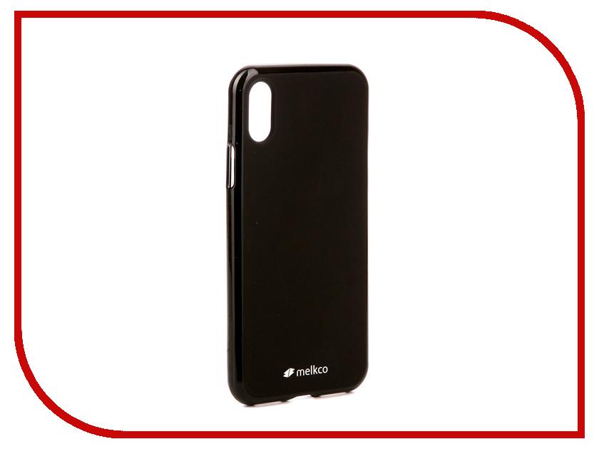 Аксессуар Чехол Melkco Silicone TPU для APPLE iPhone X Mat Black 15385 аксессуар чехол накладка micromax canvas viva a106 activ silicone black mat 46857