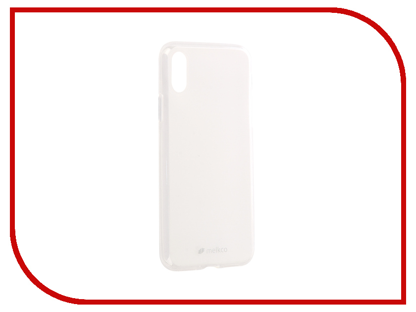 Аксессуар Чехол Melkco Silicone TPU для APPLE iPhone X Mat Transparent 15384 чехол melkco for samsung 8530 в санкт петербурге