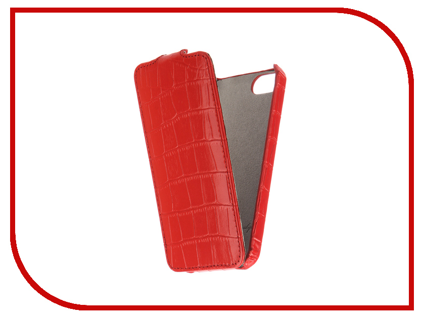 Аксессуар Чехол Melkco для APPLE iPhone 5S/SE Red Crocodile 3130 чехол melkco for samsung 8530 в санкт петербурге