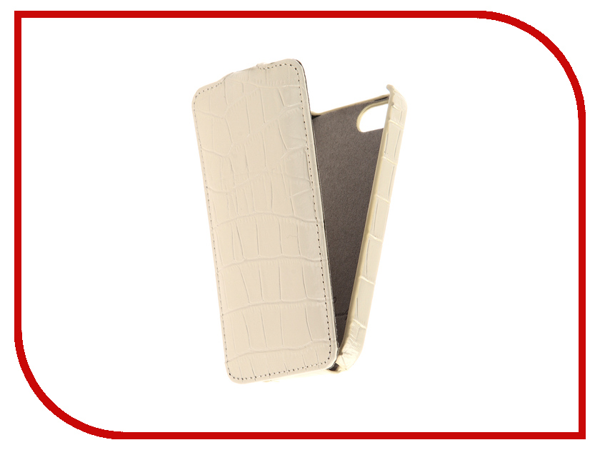 Аксессуар Чехол для APPLE iPhone 5S / SE Melkco White Crocodile 3031 аксессуар solomon iphone 5 5s se 22 5cm white