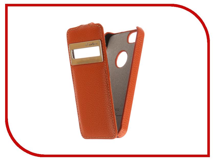 купить Аксессуар Чехол Melkco с окном для APPLE iPhone 5S/SE Orange 3211 недорого
