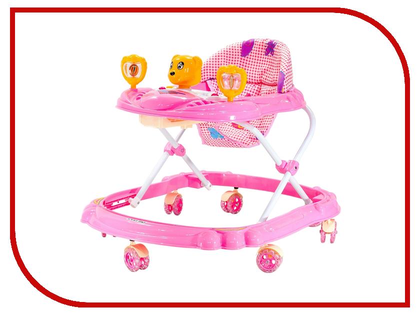 Ходунки Everflo Медвежонок Pink WT415