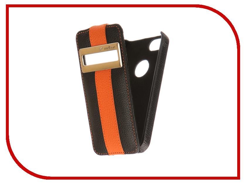 купить Аксессуар Чехол Melkco LE с окном для APPLE iPhone 5S/SE Black-Orange 3213 недорого