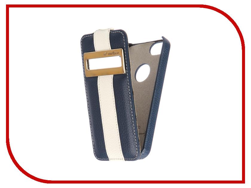 купить Аксессуар Чехол Melkco LE с окном для APPLE iPhone 5S/SE Blue-White 3215 недорого