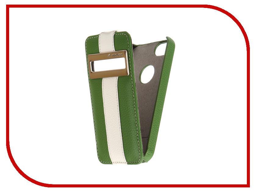 Аксессуар Чехол Melkco LE с окном для APPLE iPhone 5S/SE Green-White 3216