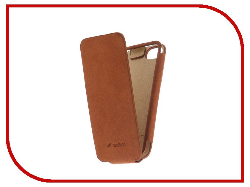 Аксессуар Чехол для APPLE iPhone 5S / SE Melkco Diary Flip Type Brown 3219 mooncase leather side flip wallet card slot pouch stand shell back чехол для apple iphone 5 5s black white