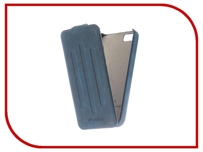 Аксессуар Чехол Melkco CLE Prime Verti для APPLE iPhone 5S/SE Blue 3221