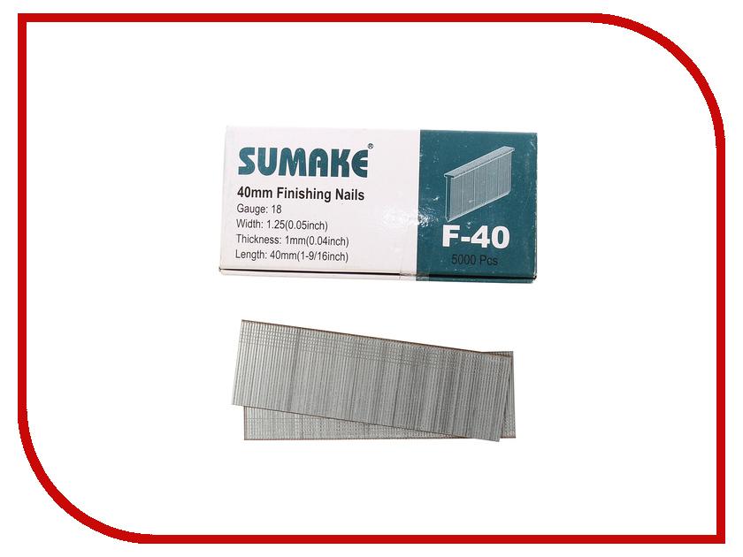 Гвозди Гвозди Sumake F-40 1x1.25x40mm 5000шт 31 383 от Pleer