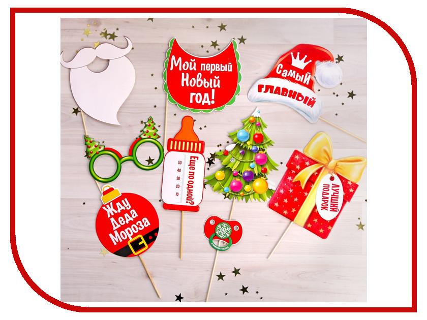 Новогодний сувенир Набор фотобутафории СИМА-ЛЕНД Мой первый Новый год 2256031 ветровик rein для great wall hover h3 h5 2011 2010 внедорожник на накладной скотч 3м 4 шт