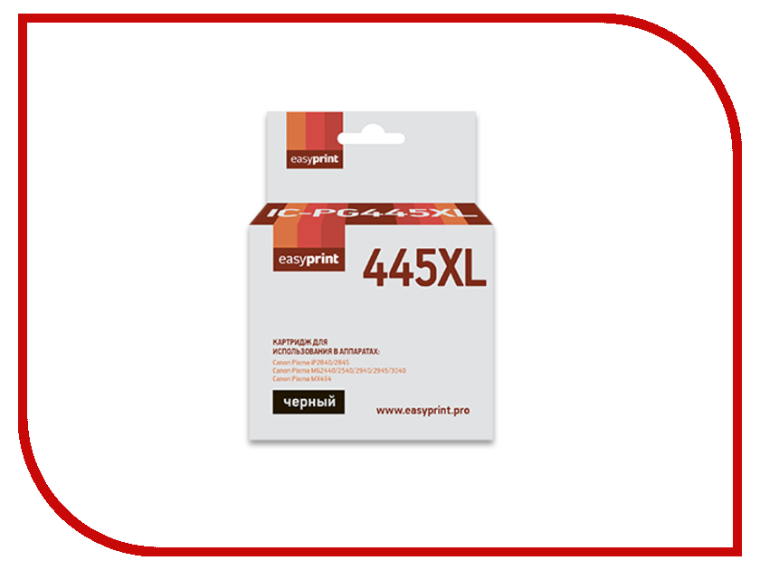 Картридж EasyPrint Black для Pixma iP2840/2845MG2440/2540/2940/2945/MX494 IC-PG445XL картридж canon 445 цена