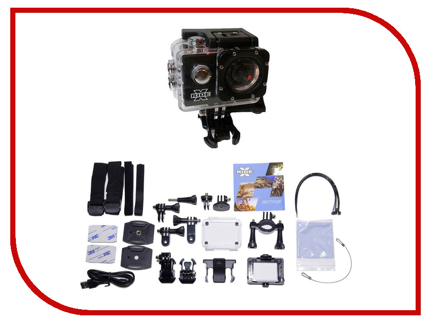 Экшн-камера X-ride 4K DVR AC-1000W