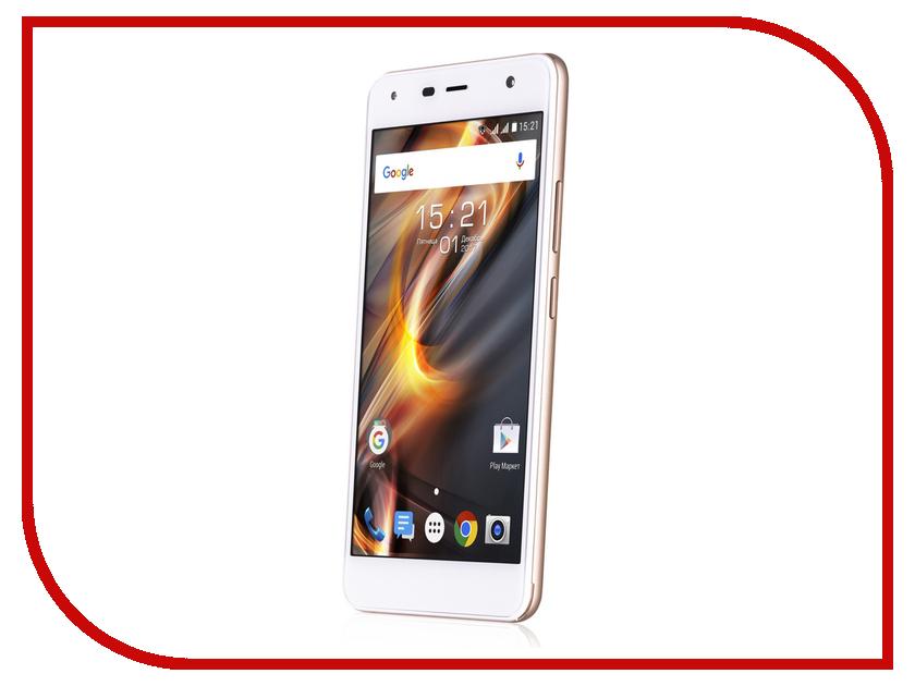 Сотовый телефон Fly FS528 Memory Plus LTE Champagne смартфон fly fs523 cirrus 16 lte black