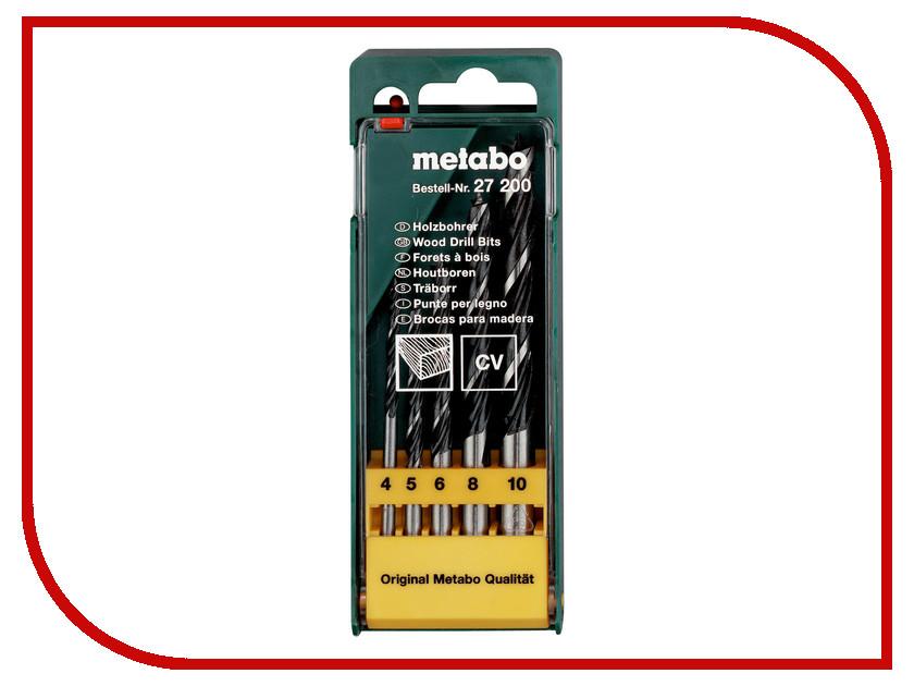Сверло Metabo CV по дереву 4-10mm 5шт 627200000