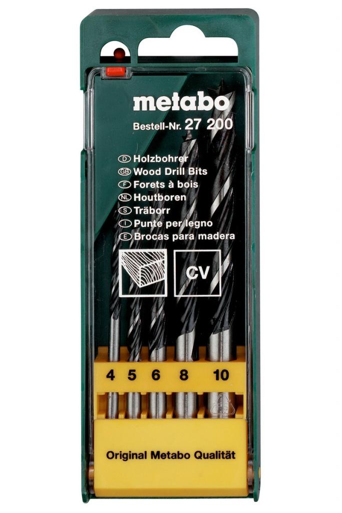 Набор сверл Metabo по дереву CV 4-10mm 5шт 627200000