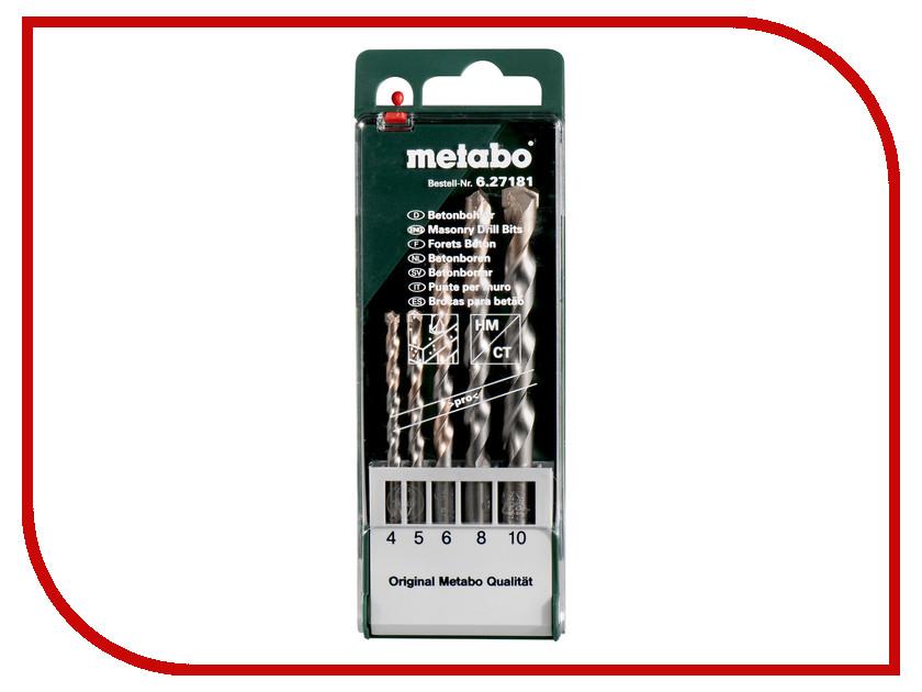 Сверло Metabo HM Pro по бетону 4-10mm 5шт 627181000