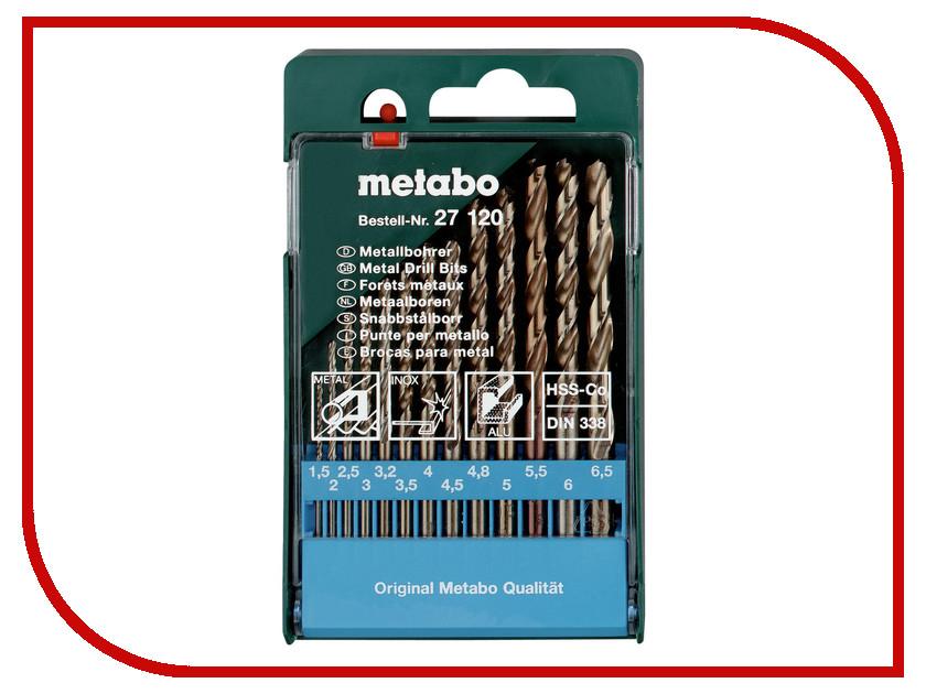Сверло Metabo HSS-Co по металлу 1.5-6.5mm 13шт 627120000 набор сверел metabo 13шт 627161000
