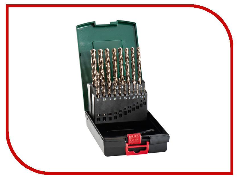 Сверло Metabo HSS-Co по металлу 1-10mm 19шт 627121000 набор сверл bosch hss r promoline 1 13mm по металлу 25шт 2607019446