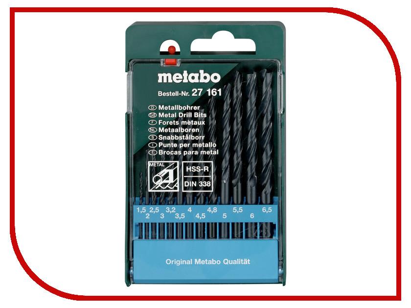 Сверло Metabo HSS-R по металлу 1.5-6.5mm 13шт 627161000