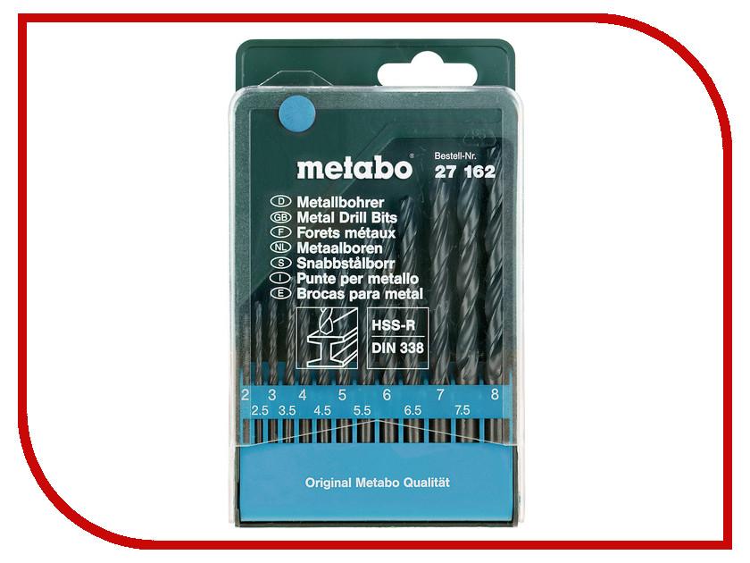 Сверло Metabo HSS-R по металлу 2-8mm 13шт 627162000
