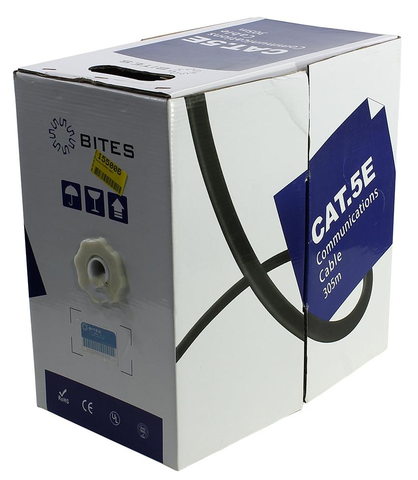 Сетевой кабель 5bites UTP / SOLID 5E 24AWG CCA PVC GREEN 305M US5505-305A-GR