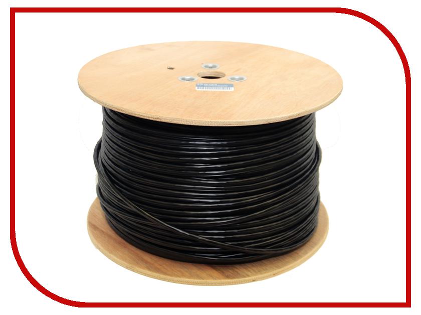 Сетевой кабель 5bites UTP / SOLID / 5E / 24AWG / CCA / PVC + PE / OUTDOOR / MESSENGER / DRUM / BLACK 305M US5505-305CE-M