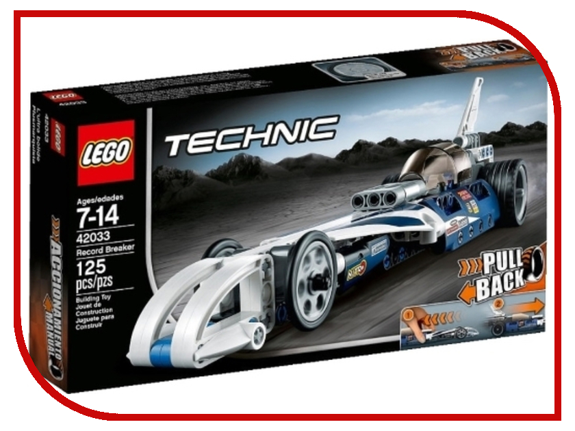 Конструктор Lego Technic Record Breaker 42033 стартовые очки madwave record breaker rainbow white m0454 03 0 09w