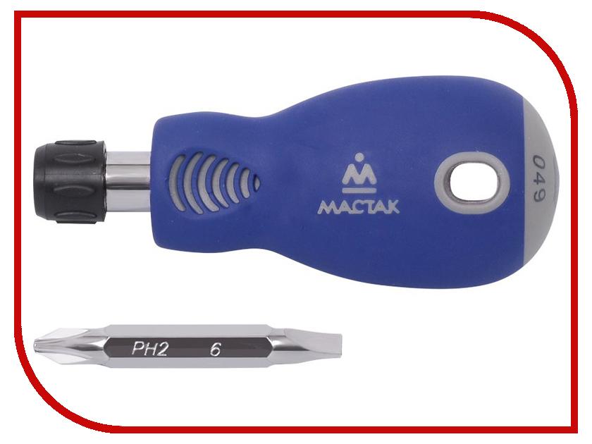 Отвертка МАСТАК 049-2B набор разрезных ключей воронья лапка мастак 0261 15c