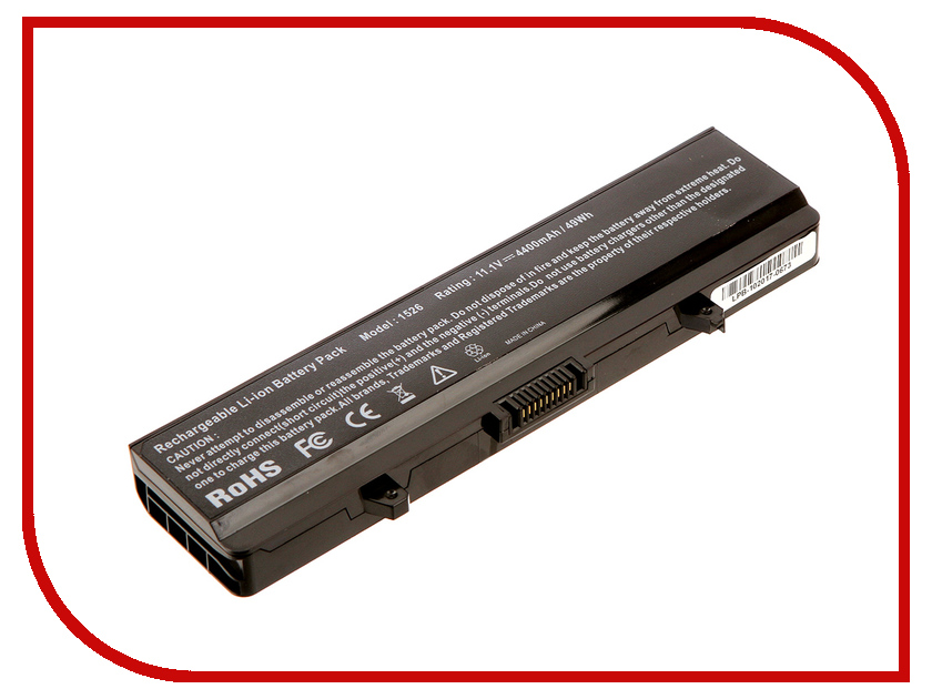 Аккумулятор 4parts LPB-1525 для DELL Inspiron 15 1525/1526/1545/1545n/1546/1546n/1750/Vostro 500 11.1V 4400mAh ccinee self adhesive toy eyes 5 6 7 8 10mm total mixed googly eye teddy bear plastic doll eye scrapbook for doll toy accessories