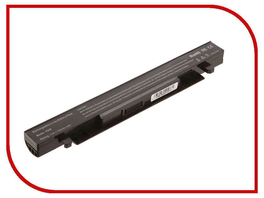 Аккумулятор 4parts LPB-X550 для ASUS X550/X550D/X550A/X550L/X550C/X550V/X450CA/X450CC/X450LB 14.4V 2200mAh аккумулятор 4parts lpb s400 для lenovo s300 s310 s400 s405 s410 s415 14 8v 2200mah l12s4z01 4icr17 65