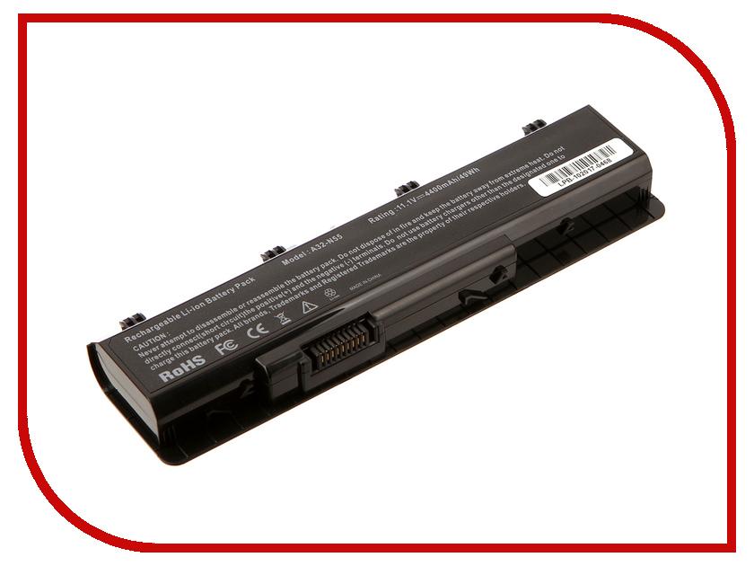 Аккумулятор 4parts LPB-N55 для ASUS N45/N55/N75 Series 10.8V 4400mAh аккумулятор 4parts lpb s400 для lenovo s300 s310 s400 s405 s410 s415 14 8v 2200mah l12s4z01 4icr17 65