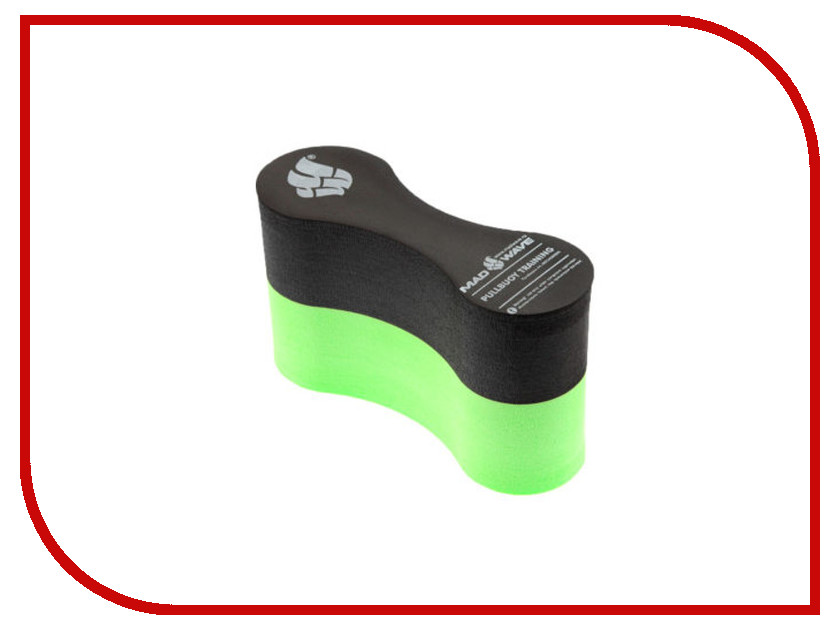 Калабашка Mad Wave Pull Buoy EXT Black/Green M0720 03 0 00W колобашка для плавания madwave pull buoy ext цвет черный зеленый