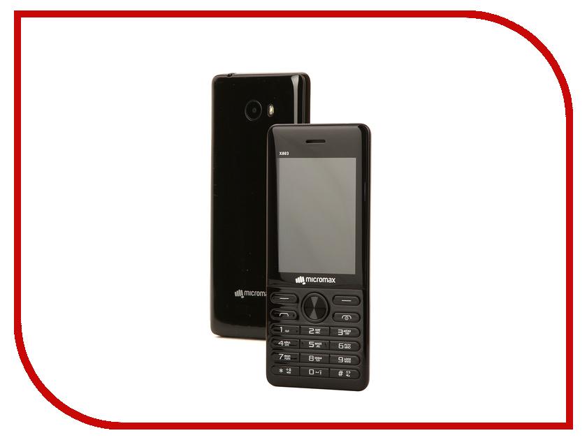Сотовый телефон Micromax X803 Black сотовый телефон micromax bolt q341 yellow