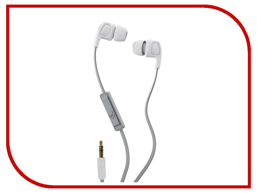 Skullcandy Smokin Bud 2 In-Ear W/Mic Street-Grey-Dark Grey S2PGY-K611 skullcandy jib in ear w o mic s2dudz 072 white