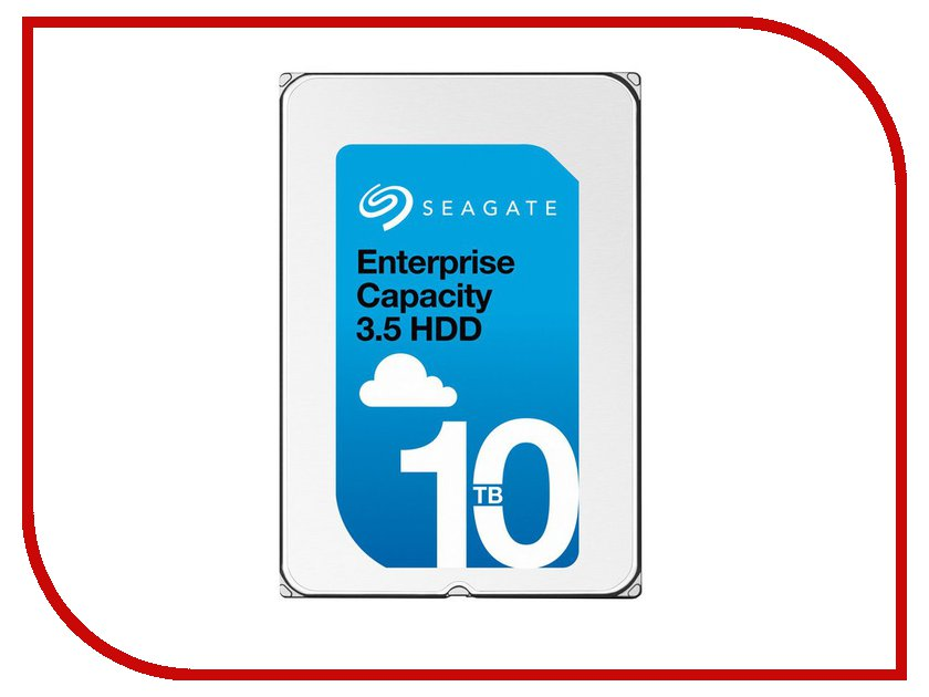 Жесткий диск 10Tb - Seagate Enterprise Capacity 3.5 ST10000NM0096 жесткий диск 5tb seagate enterprise capacity 3 5 hdd st5000nm0024