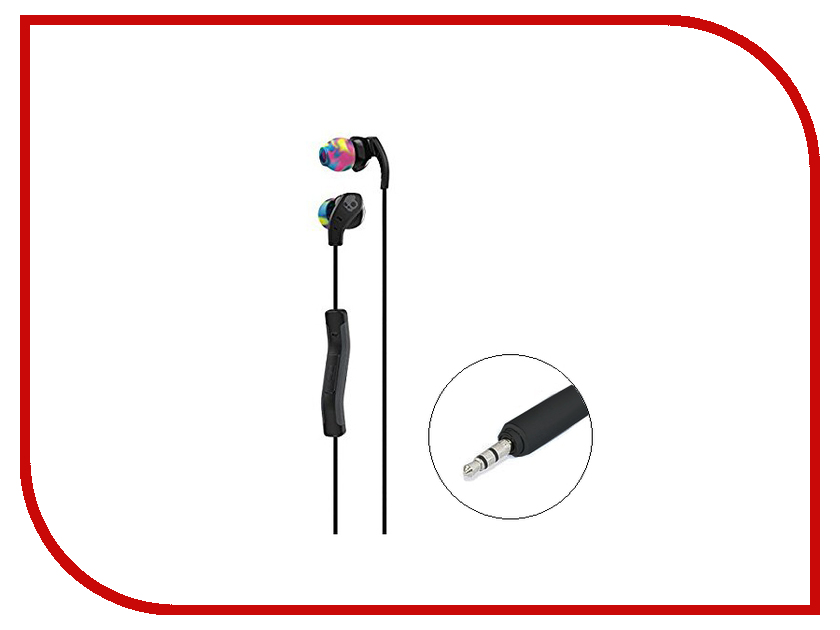 Skullcandy Method In-Ear W/Mic Black-Swirl-CoolGray S2CDY-K523 misr t3 wired earphone metal in ear headset magnet for phone with mic microphone stereo bass earbuds