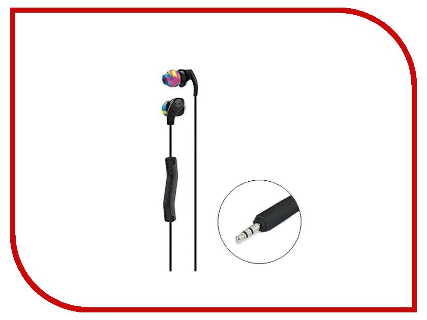 Skullcandy Method In-Ear W/Mic Black-Swirl-CoolGray S2CDY-K523 vykon mk 4 3 5mm in ear earphone headphone w mic for samsung iphone