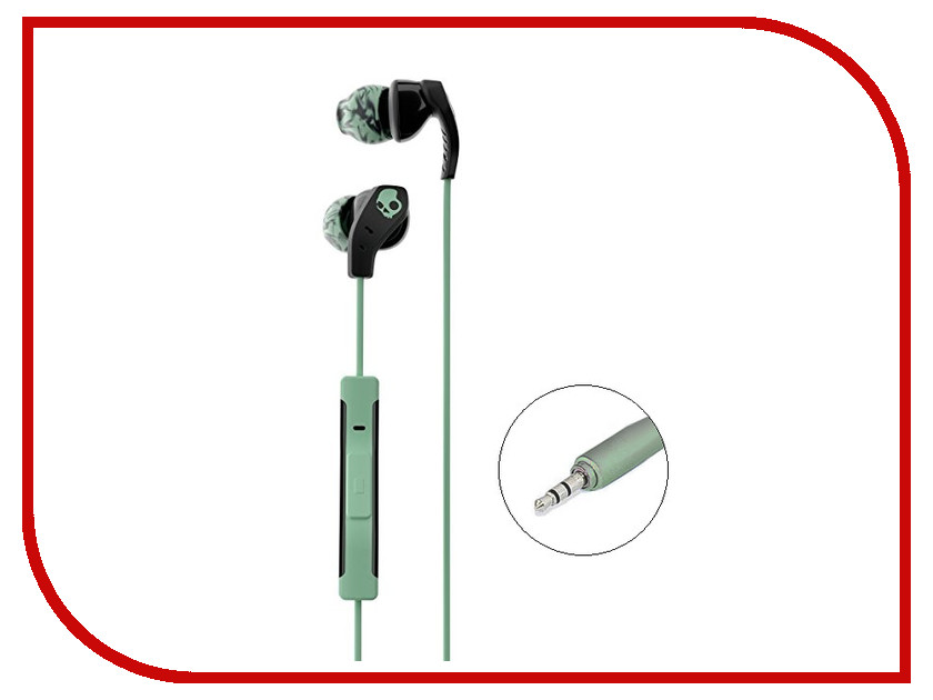 Гарнитура Skullcandy Method In-Ear W/Mic Black-Mint-Swirl S2CDY-K602 гарнитура skullcandy smokin buds with mic black red s2pgfy 010