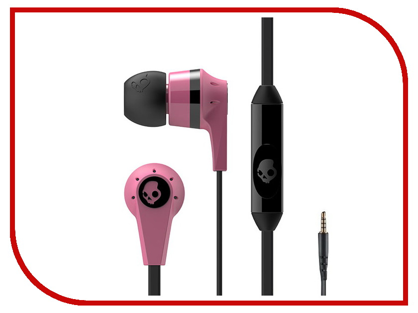 Гарнитура Skullcandy Ink d 2.0 In-Ear W/Mic Pink-Red S2IKDY-133 гарнитура skullcandy ink d with mic dark red s2ikhy 481