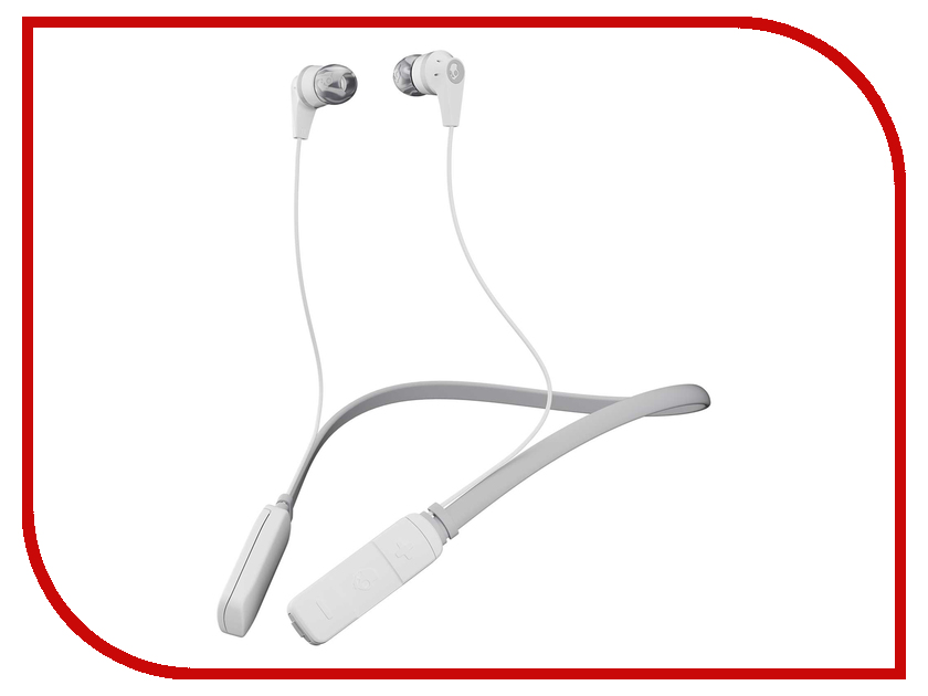 Skullcandy Ink D Wireless In-Ear White-Gray-Gray S2IKW-J573 free shipping head changeable blue and red led photon skin rejuvenation ems microcurrent face and body beauty massager