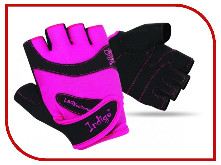Перчатки атлетические Indigo SB-16-1729 размер L Pink-Black кожаные сумки brialdi valencia bl